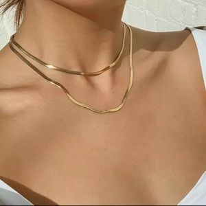 NEW 18k Gold Plated Two layered Necklace